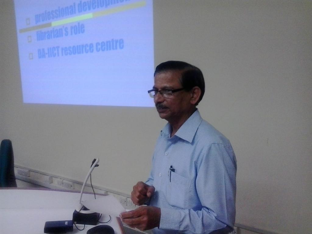 5504 Welcome Speech by Mr. Satish Deshpande, Head, Resource Centre, DA-IICT