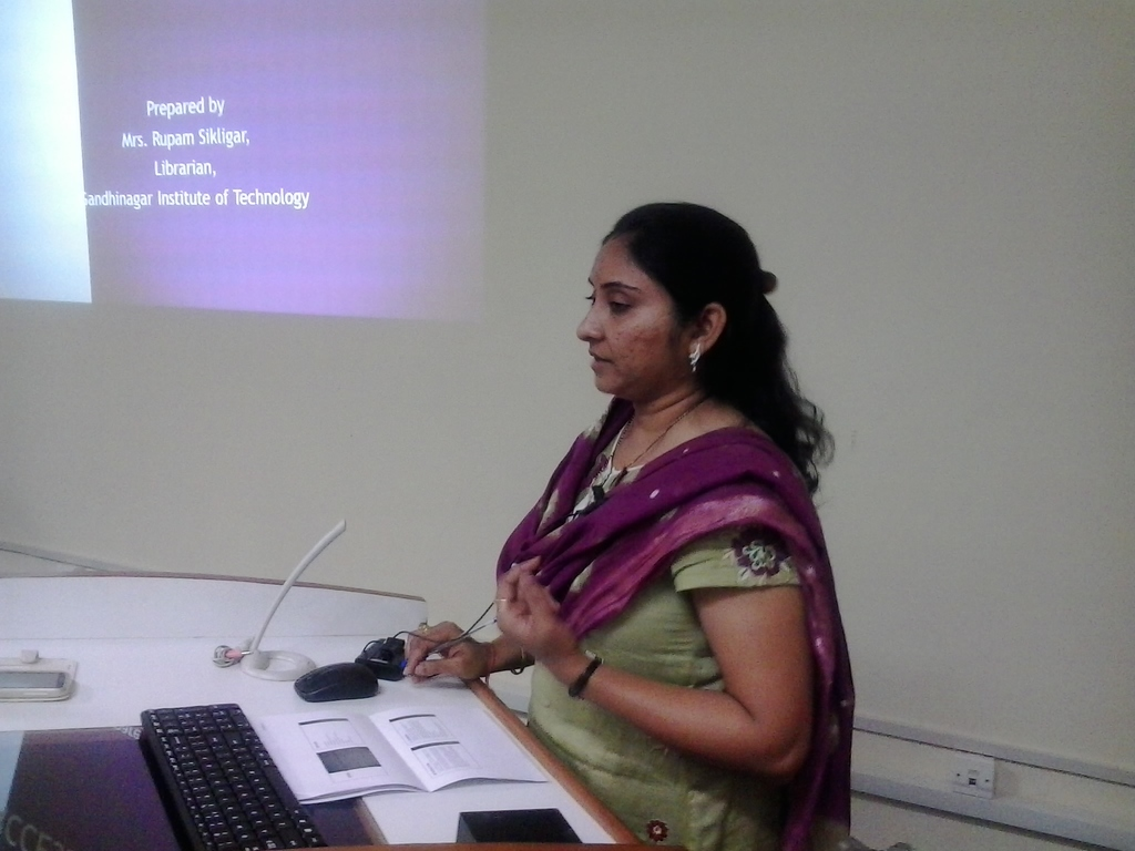 3133  Presentation by Ms. Rupam Sikligar, Librarian, GIT.