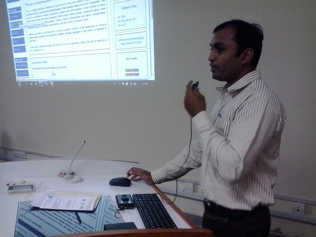 0608 Presentation by Library Professional - DA-IICT