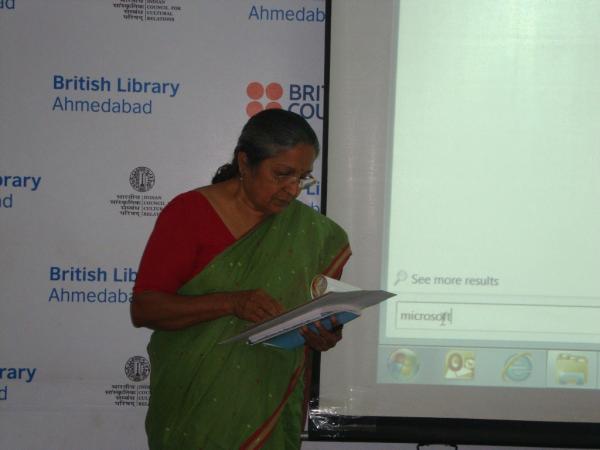 Invocation by Ms. Swadha Majmudar at British Library Seminar