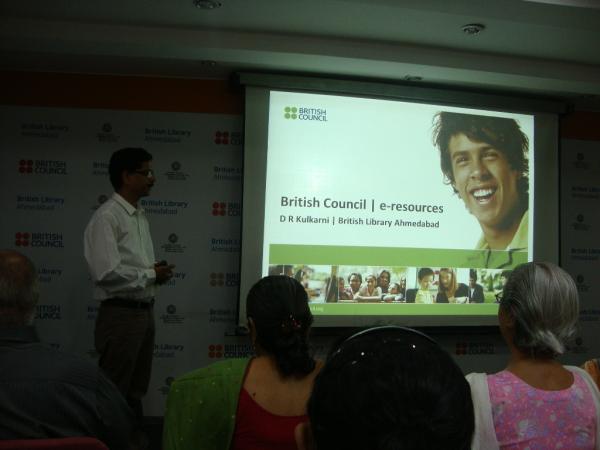 Presentation by Dattatraya Kulkarni on British Council e-resources.