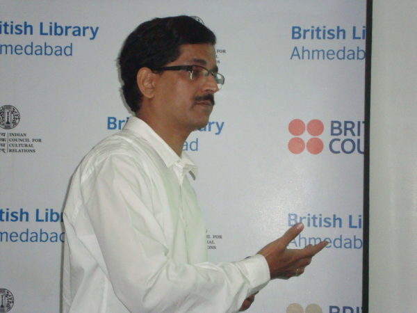 Presentation by Mr. Dattatreya Kulkarni, British Library, Ahmedabad.