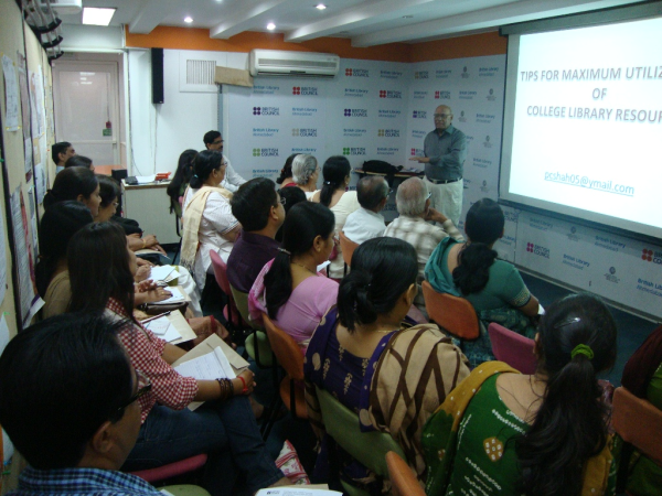 Presentation by Mr. P. C. Shah on Tips for Maximum Utilization of College Library Resources.