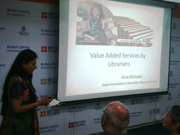 Presentation by Kina Khimani on Value Added Services By Librarians.