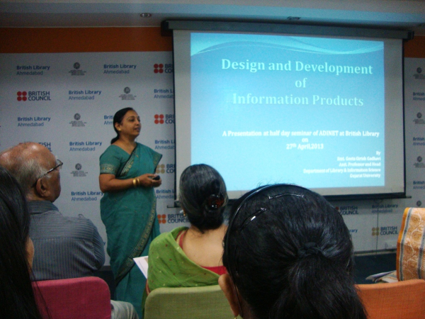 Presentation on Design and Development of Information Products  by Ms Geeta Gadhavi.