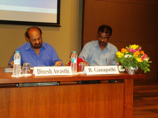 Dr. Dinesh Awasthi, Director, EDI & Mr. B. Ganapathi, Librarian, EDI