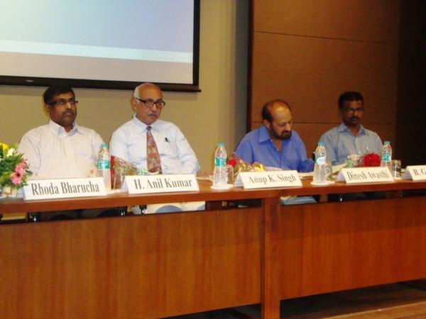 Dr. H. Anil Kumar, Dr. Anup Singh, Dr. Dinesh Awasthi & Mr. B. Ganapathi on Dias