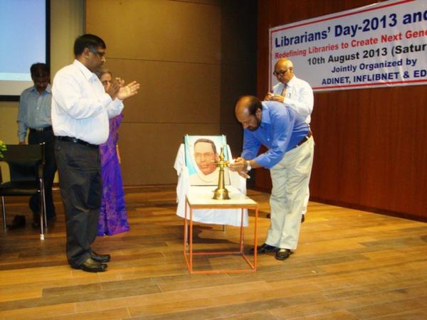 Dr. Dinesh Awasthi, Director, EDI, Lighting the Ceremonial Lamp