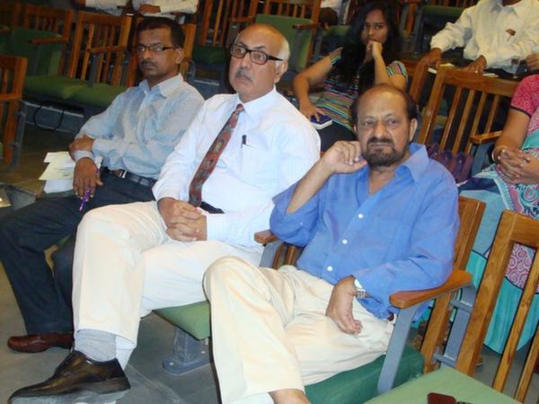Dr. Dinesh Awasthi, Director, EDI, Dr. Anup Singh, Director General, NIRMA Uni. & Mr. B. Ganapathi