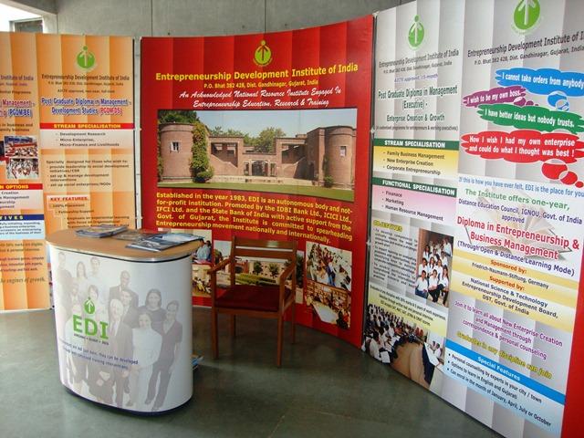 Entrepreneurship Development Institute of India (EDII) Stall at Book Exhibition