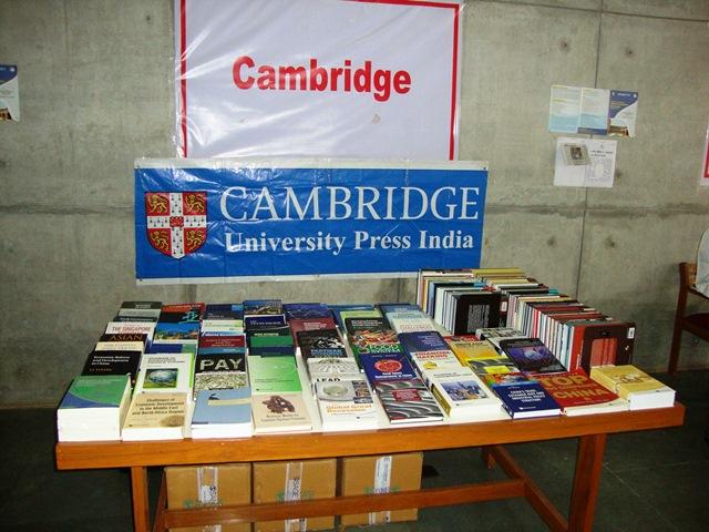 Cambridge Uni. Press India Pvt. Ltd. Stall at EDII, Gandhinagar