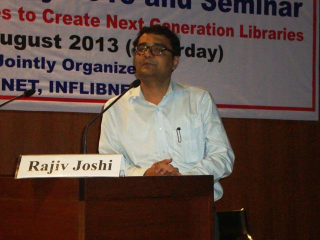 Invited Speaker Dr. Rajiv Joshi, EDI