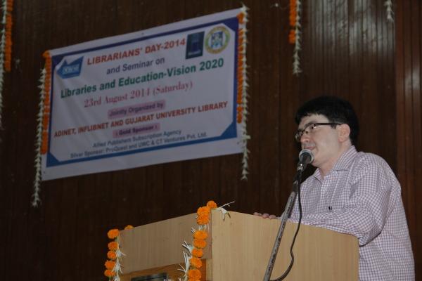 Welcome Address by Dr. N. D. Shah I/C   V.C. Gujarat University