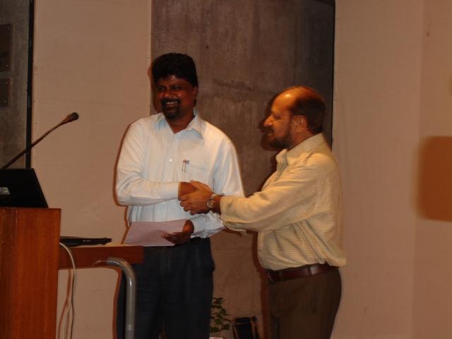 66  Former Director of EDII, Dr. Dinesh Awasthi & Shri Manoj Kumar, Scientist-C, INFLIBNET