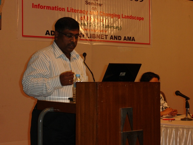 85 Presentation on Librarians' Day 2009 by Dr. H. Anil Kumar, Librarian, IIMA, Ahmedabad.