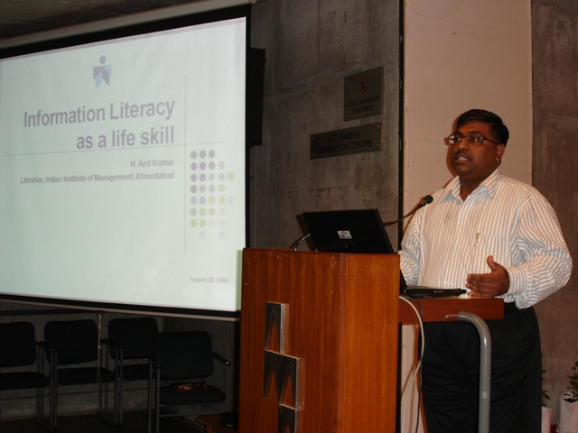 87 Presentation on Librarians' Day 2009 by Dr. H. Anil Kumar, Librarian, IIMA, Ahmedabad.