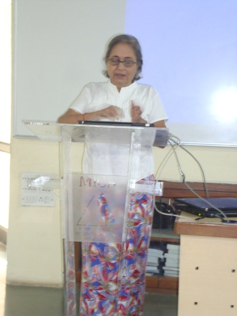 3778 Introducing the Seminar Topic by Smt. Rhoda Bharucha, Hon. Director, ADINET