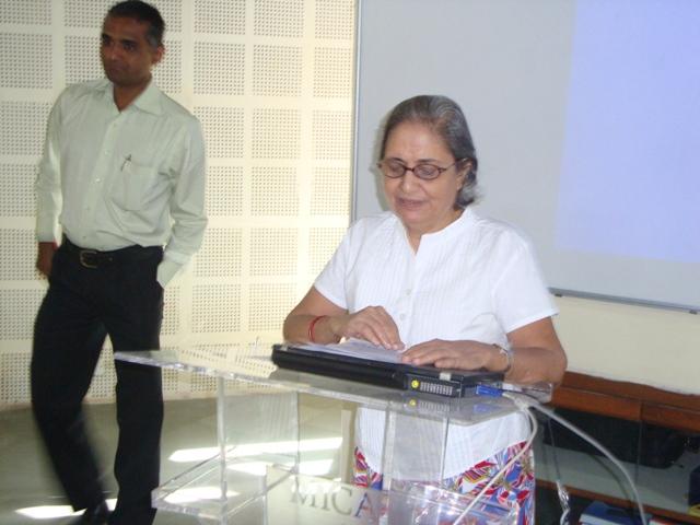 3787  Introducing the Seminar Topic by Smt. Rhoda Bharucha, Hon. Director, ADINET