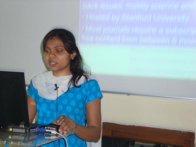 3792  Presentation by Ms. Kruti Trivedi, Scientist B, INFLIBNET Centre, Ahmedabad